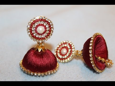 Simple And Beautiful Silk Thread Earrings Youtube
