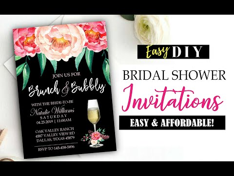 How To Make Bridal Shower Invitations - Easy & Cheap!