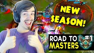 FRESH SEASON FRESH START! Road to Masters S7 Ep1 - League of Legends