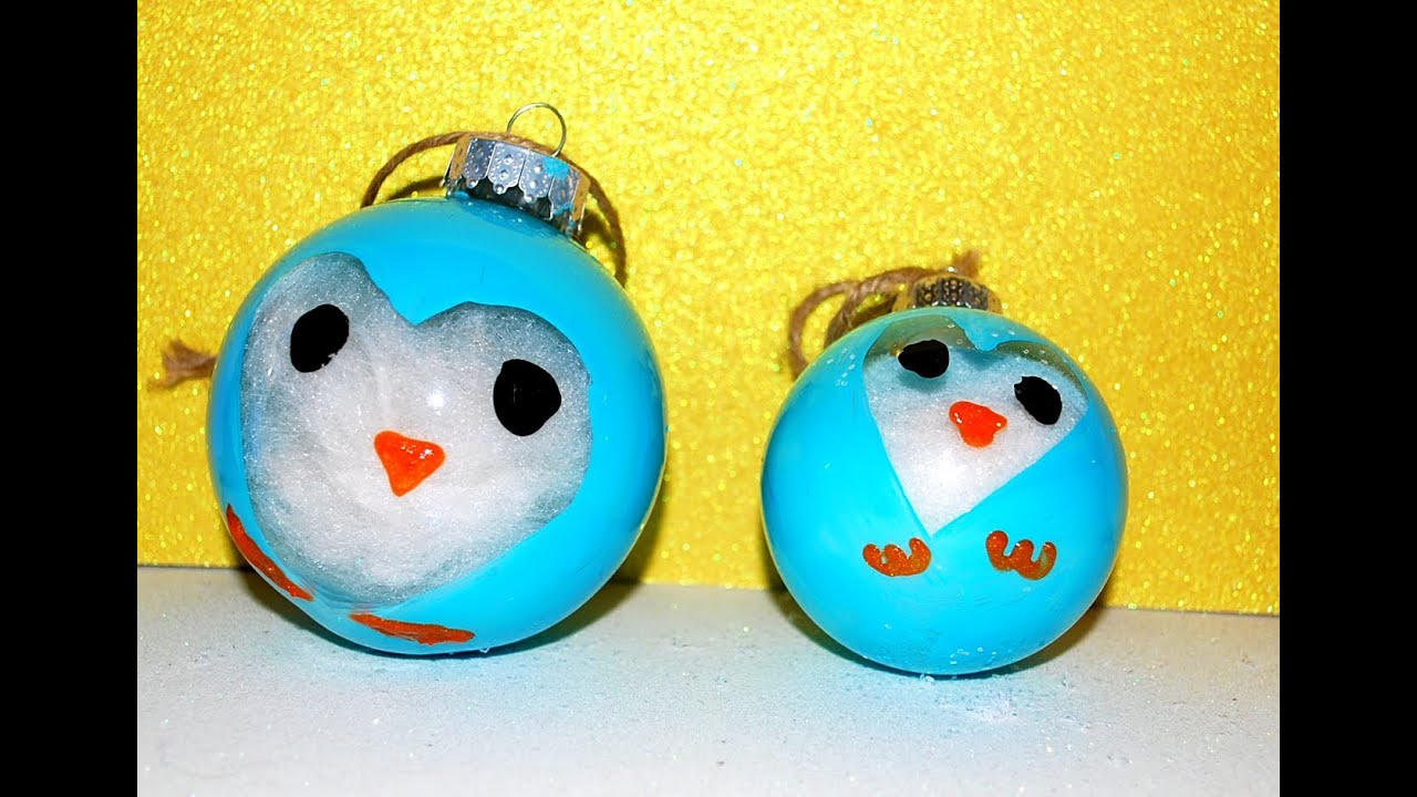 Diy Penguin Ornaments Diy Christmas Ornaments For Kids Youtube