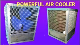 How to make a Powerful AIR COOLER at home