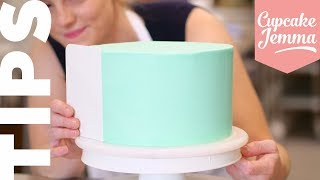 Get Perfect Edges on Your Cakes!  Tuesday Tips  Cupcake Jemma