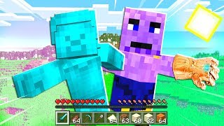 BLUE STEVE FOUND THANOS in MINECRAFT PE! (Endgame)