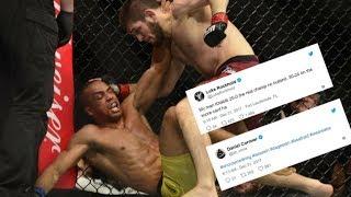 Video MMA Community reacts to Khabib Nurmagomedov  smashing Edson Barboza at UFC 219 download MP3, 3GP, MP4, WEBM, AVI, FLV November 2018