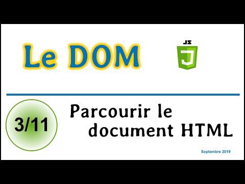 Parcourir Un Document HTML Avec L'interface DOM [CDOM03]
