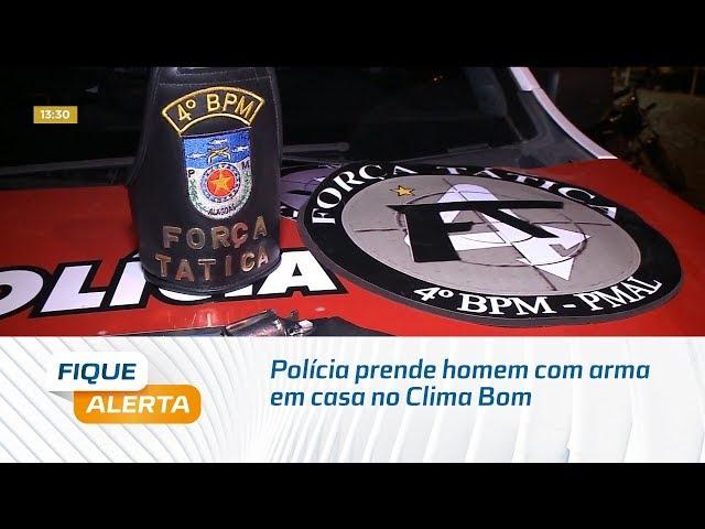 Polícia prende homem com arma em casa no Clima Bom