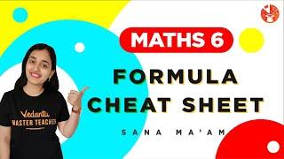 Maths 6 Formula Cheat Sheet | Class 6 Maths | Sana Ma'am | V Mathemagicians screenshot 4