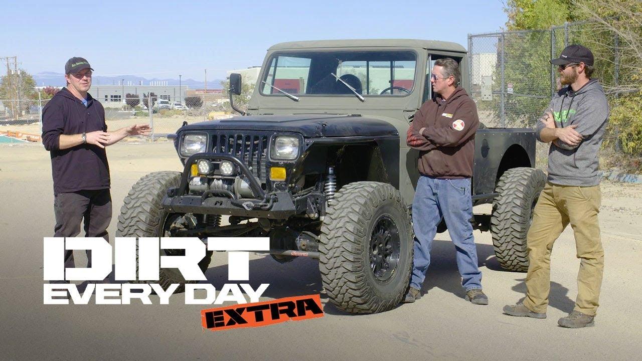 A Custom Diesel Jeep Cj10 Dirt Every Day Extra Youtube