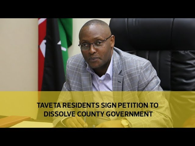 Taveta residents sign petition to dissolve county government