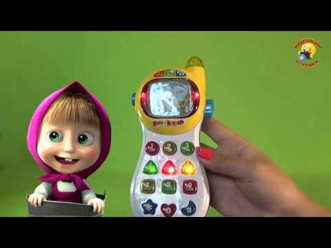 Телефон интерактивный детский Маша и Медведь / Mobile Phone For Kids Masha