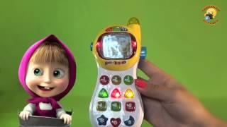 Телефон интерактивный детский Маша и Медведь / Mobile phone for kids Masha(Игрушка предоставлена интернет магазином