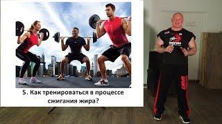 5. Тренировки в процессе жиросжигания.