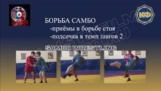 Техника борьбы самбо. Подсечка в темп шагов 2. kfvideo.ru