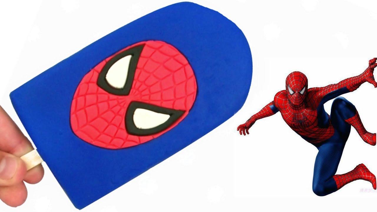 Glace spiderman en pâte à modeler Play Doh - YouTube