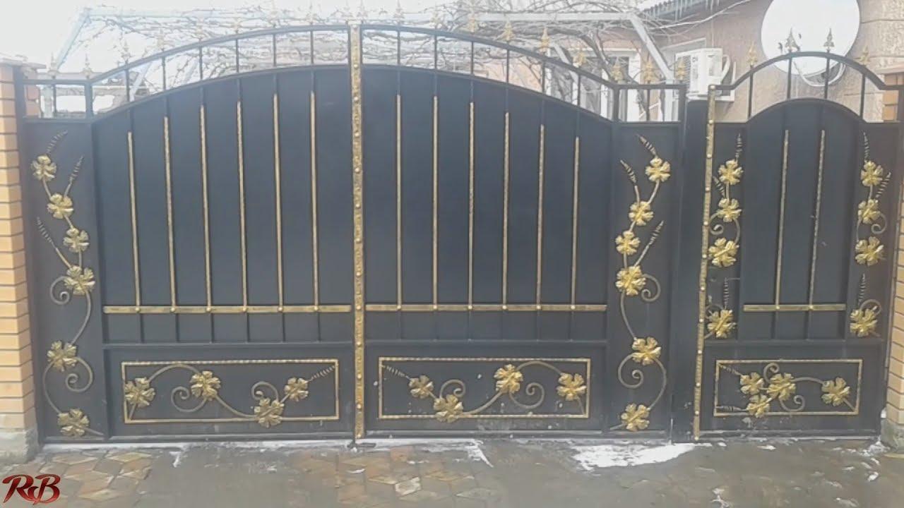 Кованые ворота своими руками фото 425
