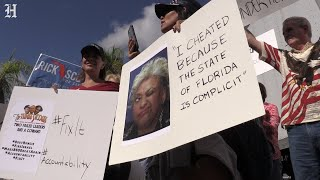 Republican protesters gather outside of Broward Supervisor of Elections Brenda Snipes' office