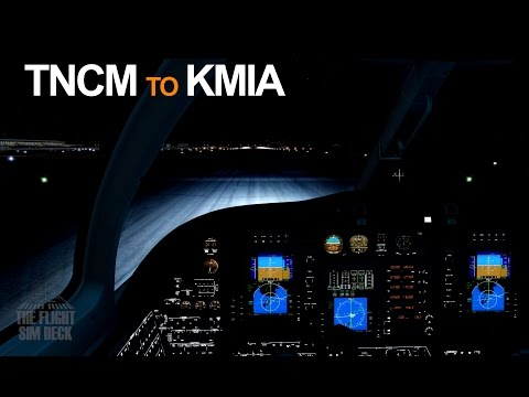 Prepar3D | An Oceanic Night TNCM to KMIA | Carenado 525A Citation CJ2