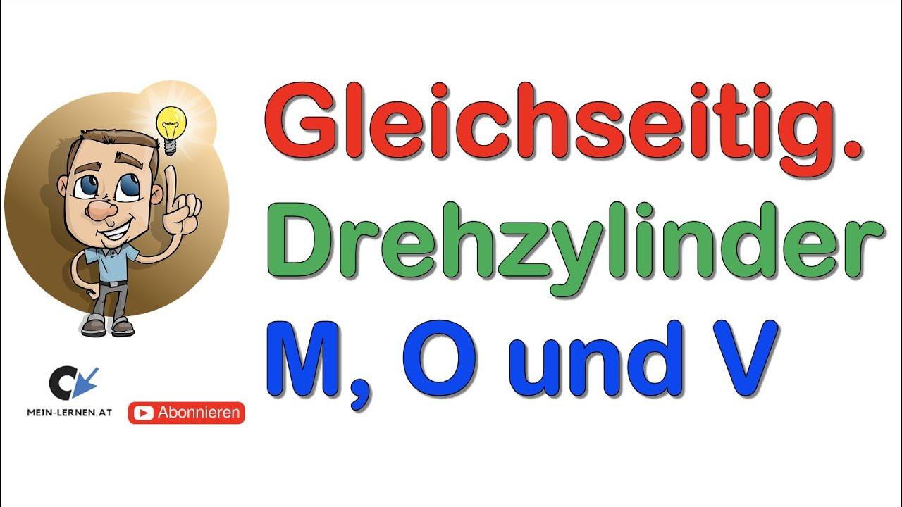 Volumen Zylinder