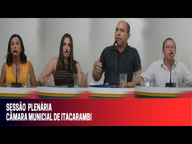 Câmara Municipal de Vereadores de Itacarambi MG Reunião realizada no dia 15/10/2021