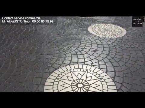 Terrasse en Béton Imprimé : Réalisation par la Société Augusto d'une terrasse en béton imprimé