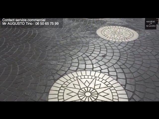 Terrasse En Béton Imprimé : Réalisation Par La Société Augusto Du0027une  Terrasse En Béton Imprimé   YouTube