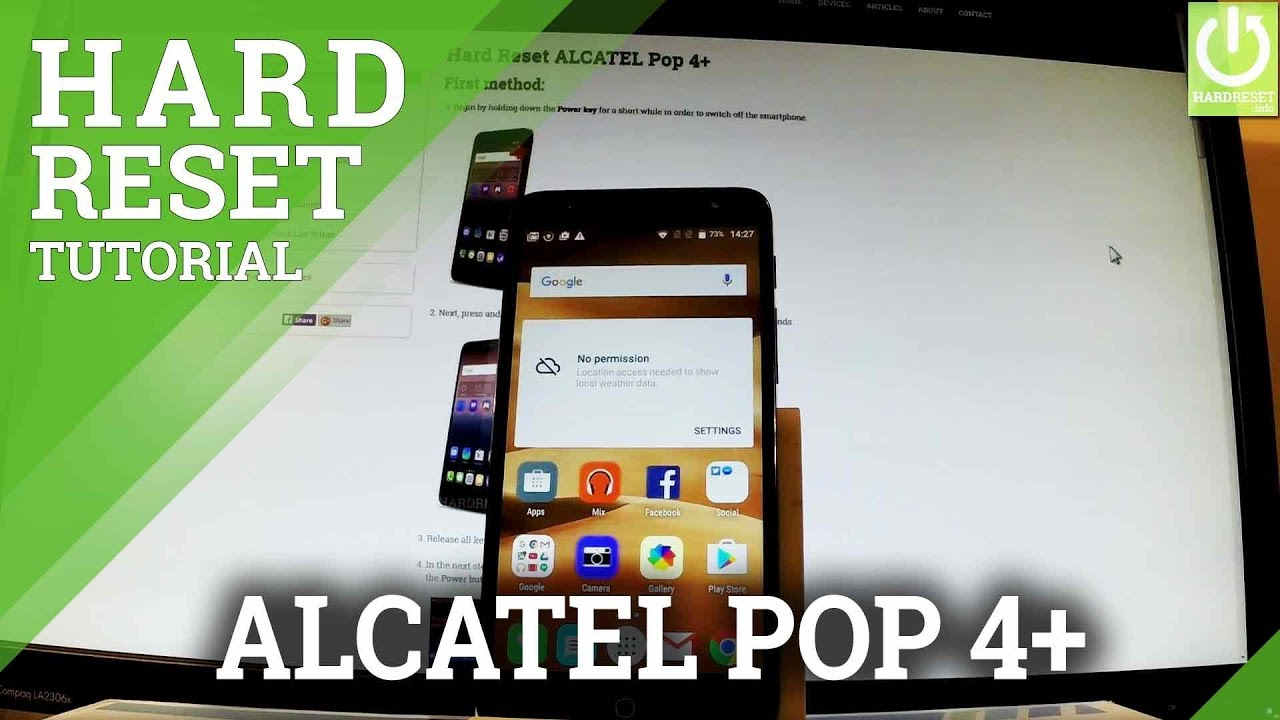 Hard Reset ALCATEL Pop 4+ - HardReset info