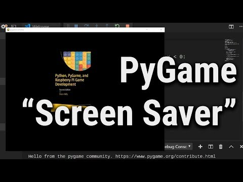"""""""Screen Saver"""" Written In Python / PyGame [Contains #ad For My Book]"""