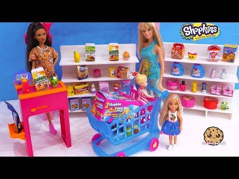 Barbie Goes Shopping ! Season 10 Surprise Blind Bags Shopkins Mini Packs