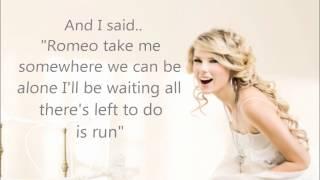 Taylor Swift - Love Story (Digital Dog Remix) Lyrics on screen.wmv