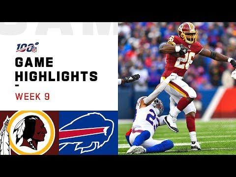 Redskins Vs. Bills Week 9 Highlights | NFL 2019