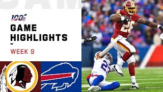 Redskins vs. Bills Week 9 Highlights | NFL 2019