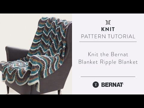 Knit the Bernat Blanket Ripple Blanket
