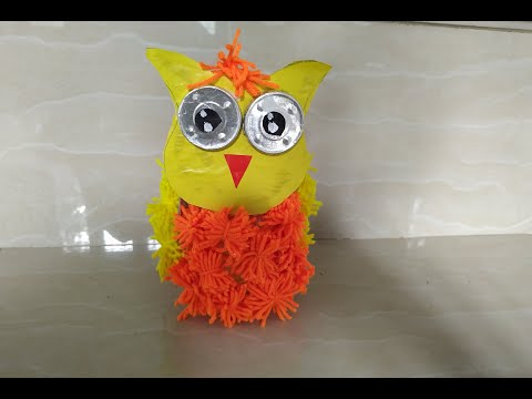 DIY OWL PENCIL/PEN HOLDER#OWL#DIY STORAGE IDEAS