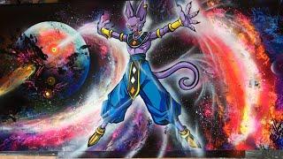 Beerus 1 Dragon Ball Super Spray Paint Art