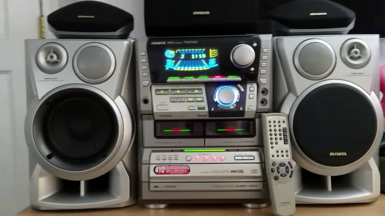 aiwa stereo system [ 1280 x 720 Pixel ]