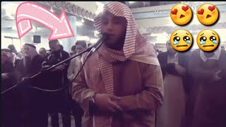 أقسم ب الله أني شعرت أن  المسجد اهتز اهتزازا عندما قرأ الشيخ حمزة الفار هذه الآيات و البكاء و الخشوع