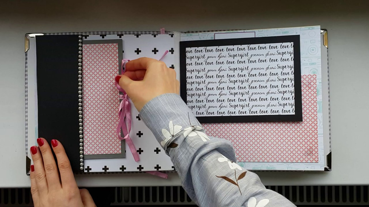 How to make scrapbook album cover - Soft Fabric Cover Scrapbooking Photo Album