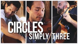 Circles - Post Malone (violin/cello/bass cover) - Simply Three | STUDIO SESSIONS