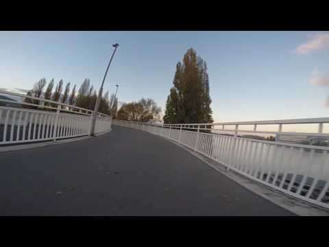Budapest Hungary cycling street view, Margit Island, The Palace!! GoPro