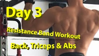 DAY 3 Resistance Band Workout: BACK, TRICEPS & ABS
