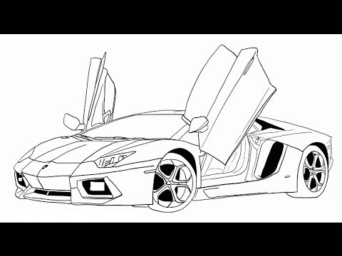 How To Draw A Sports Car Lamborghini Super Easy Lesson Learn