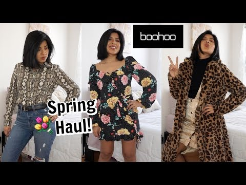 Boohoo Spring Try On Clothing Haul!