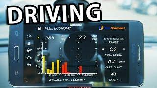 DashCommand ELM327 - Driving & Reading ECU data