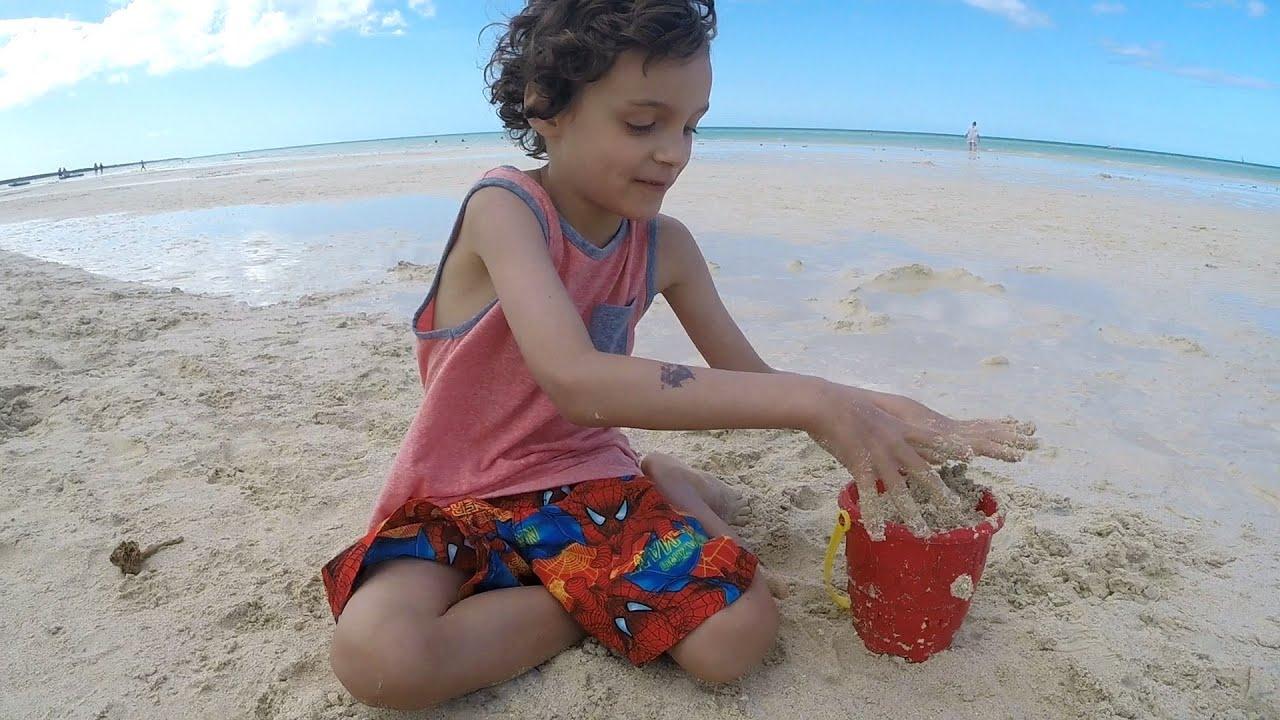 CUBA Family Trip Feb 2016 Sandy Beach Kids Fun