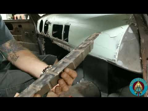 1950 Chevy 3100 Rat Rod Project. Dash Repair And Interior Cab Paint.