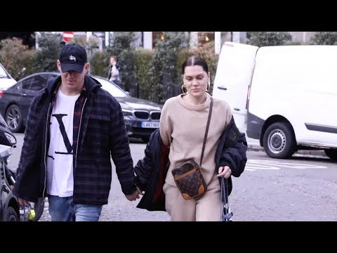 Jessie J and beau Channing Tatum holding hands in London