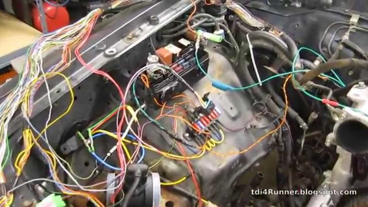maxresdefault tdi 4runner build pt 14 engine wiring harness youtube 1998 toyota 4runner engine wiring harness at bayanpartner.co