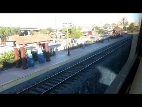 Coaster train ride from San Diego to Oceanside, USA