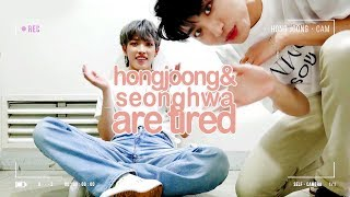 hongjoong and seonghwa are tired