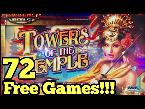 ***INSANE RETRIGGERED BIG WIN*** 72 FREE SPINS - TOWERS OF THE TEMPLE